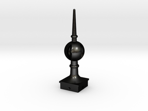 Signal Semaphore Finial (Open Ball) 1:19 scale in Matte Black Steel