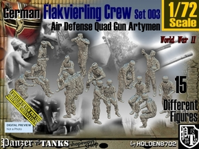 1/72 German Flak Crew Set 003 in Smooth Fine Detail Plastic
