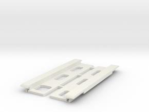 USB Sidecar for MiSTer Case Panels (2/2) in White Premium Versatile Plastic