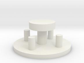Sitzgruppe mit Baumscheibentisch Versatile Platsic in White Natural Versatile Plastic