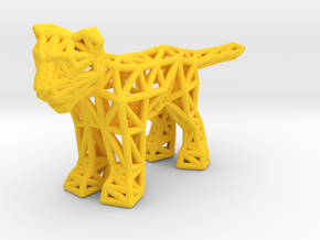Lion (young) in Yellow Processed Versatile Plastic