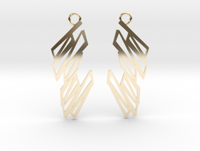 Zigzag earrings in 14k Gold Plated Brass: Small