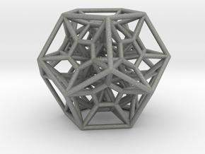 Dodecaform - Pendant in Gray Professional Plastic