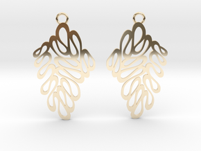 Wave earrings in 14k Gold Plated Brass: Extra Small