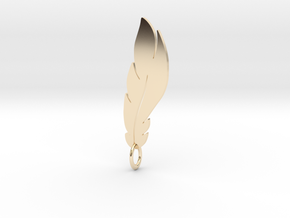 feather pendant in 14K Yellow Gold