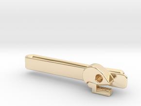 Mictlan tie clip in 14k Gold Plated Brass