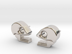 Mictlan earrings in Rhodium Plated Brass