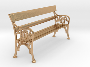 Victorian Railways Station Bench Seat 1:19 Scale in Natural Bronze
