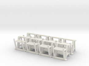 Trestle 01. 1:48  Scale in White Natural Versatile Plastic