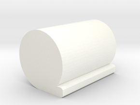 Game Piece, Roll of Material in White Processed Versatile Plastic