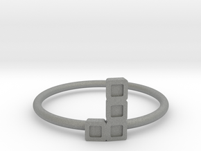 Block Puzzle Ring (Type-L4) in Gray Professional Plastic