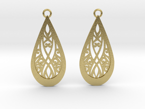 Elven earrings in Natural Brass: Small