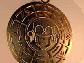 Pirate Gold Medallion in Polished Metallic Plastic