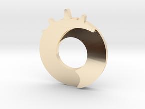 Exploding Dot Pendant in 14k Gold Plated Brass