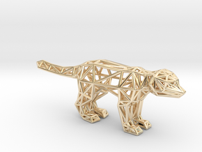 Meerkat (adult) in 14k Gold Plated Brass