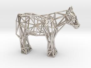 Shetland Pony in Platinum