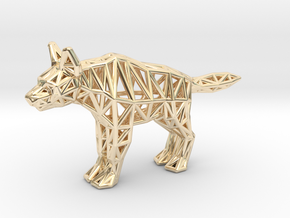 Striped Hyena (adult) in 14k Gold Plated Brass