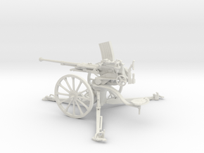 1/30 IJA Type 98 20mm anti-aircraft gun in White Natural Versatile Plastic