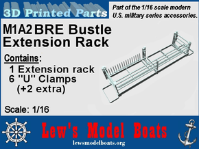 M1A2 BRE Bustle rack 1/16 scale in White Natural Versatile Plastic: 1:16