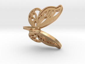butterfly pendant in Natural Bronze
