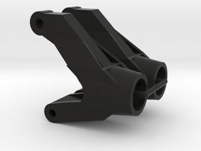 Tamiya Terra Scorcher C1, custom rear hub carriers in Black Natural Versatile Plastic