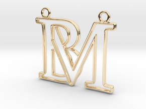 Monogram with initials B&M in 14k Gold Plated Brass