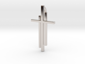 Calvary Cross Pendant - Christian Jewelry in Rhodium Plated Brass