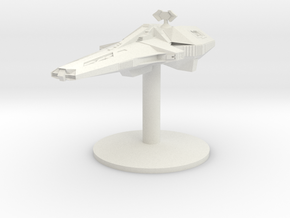 Scorpio (Blakes 7) on stand for Firefly in White Natural Versatile Plastic