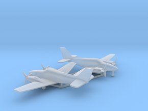 Beechcraft Baron G58 in Smooth Fine Detail Plastic: 6mm