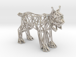 Spanish Lynx (adult) in Rhodium Plated Brass