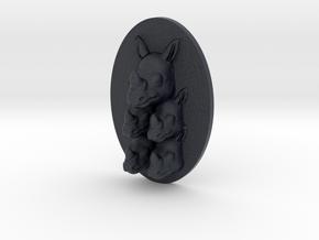 Rhino Multi-Faced Caricature (002) in Black PA12
