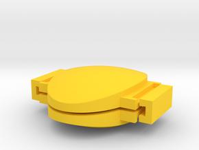 Custom Soap Mold #1 in Yellow Processed Versatile Plastic