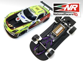 3D Chassis - NINCO Mercedes SLS (Combo) in Black Natural Versatile Plastic