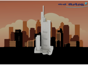 Commerzbank Tower - Frankfurt (1:4000) in White Natural Versatile Plastic