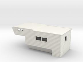 1/43 Camper in White Natural Versatile Plastic