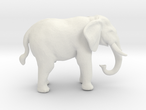O Scale African Elephant in White Natural Versatile Plastic