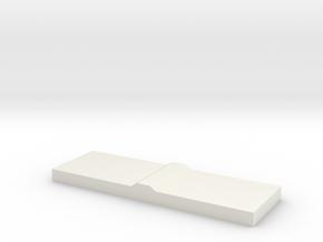 Back Trunk Trim in White Natural Versatile Plastic