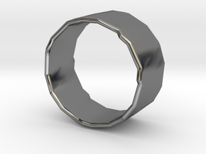 Rocky Ring 3 Size 8.25 in Fine Detail Polished Silver
