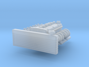 Carbed Inline 6 motor in Smoothest Fine Detail Plastic