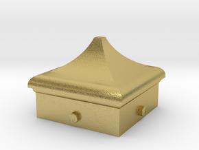 Signal Finial (Square Cap) 1:24 scale in Natural Brass