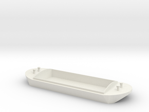 OO / HO T&F Barge - Large in White Natural Versatile Plastic