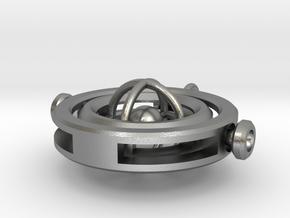 Gyroscopic Pendant in Natural Silver (Interlocking Parts)