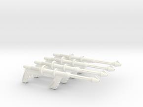Space Angel - Taurus' Blaster (1:6 Scale) - 4 Pack in White Processed Versatile Plastic