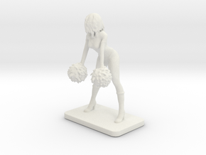 CHEERLEADER 1 in White Natural Versatile Plastic