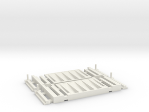 Lift Gate Positional 2 Pack 1-64 scale in White Natural Versatile Plastic