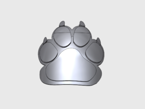 60x Wolf Paw - Shoulder Insignia pack in Smooth Fine Detail Plastic