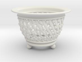 Neo Pot Spiral  3.5in.  in White Natural Versatile Plastic