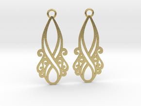Lorelei earrings in Natural Brass: Small