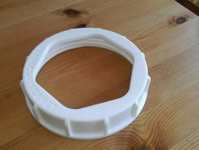 Lancia Delta 1 Fuel pump Lid in White Processed Versatile Plastic