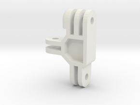 GoPro Male-Female-Female Adapter in White Natural Versatile Plastic